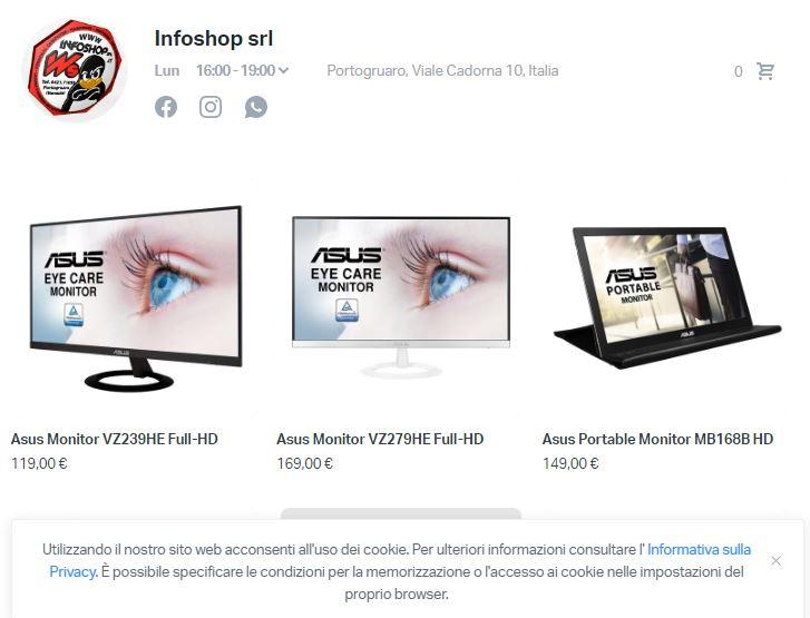 infoshop shop on line